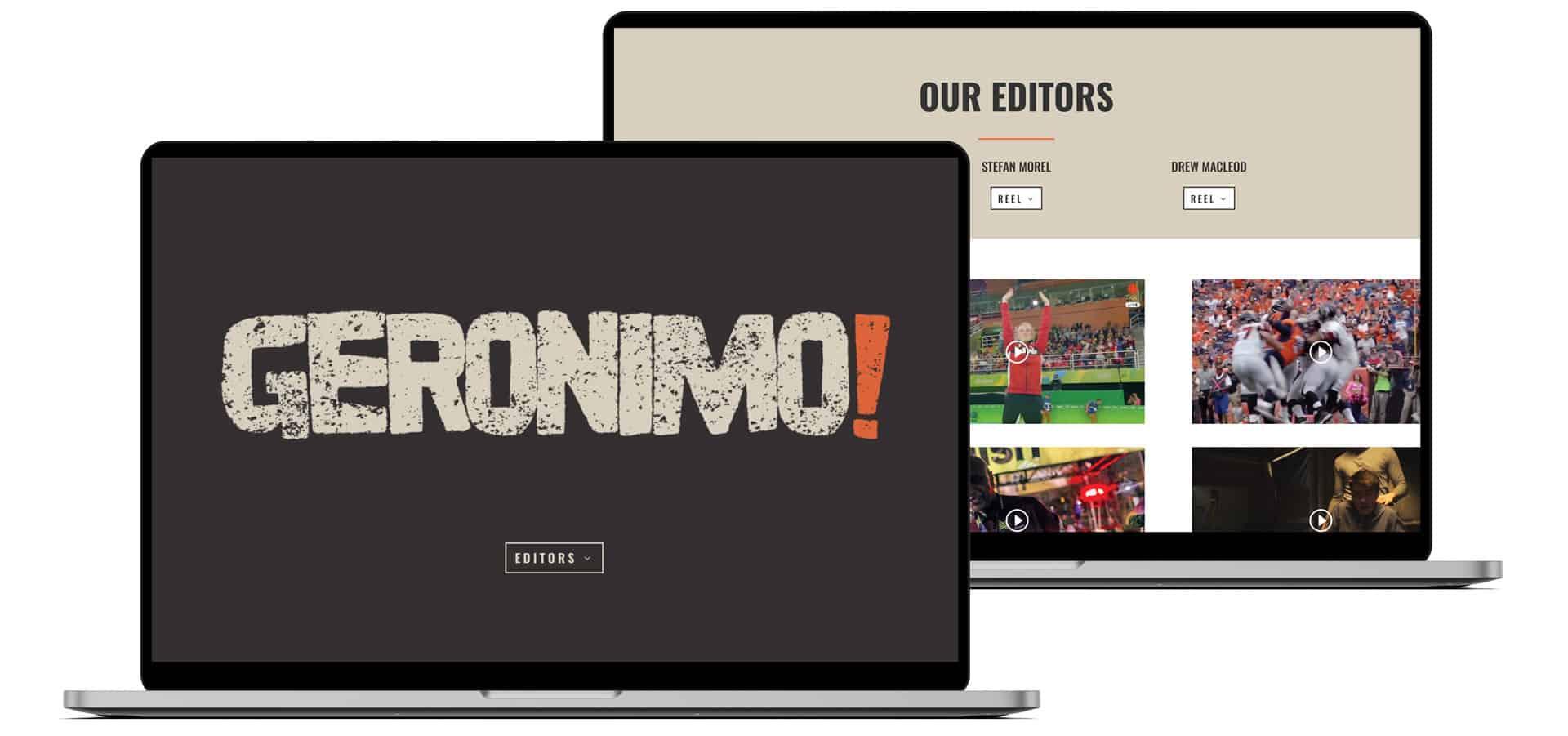 geronimo website design